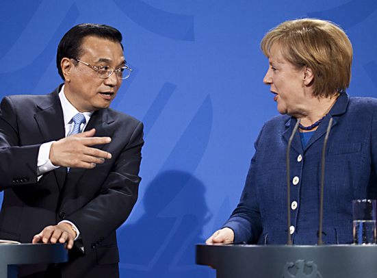 Bundeskanzlerin Merkel empfängt den chinesischen Ministerpräsidenten Li Keqiang in Berlin