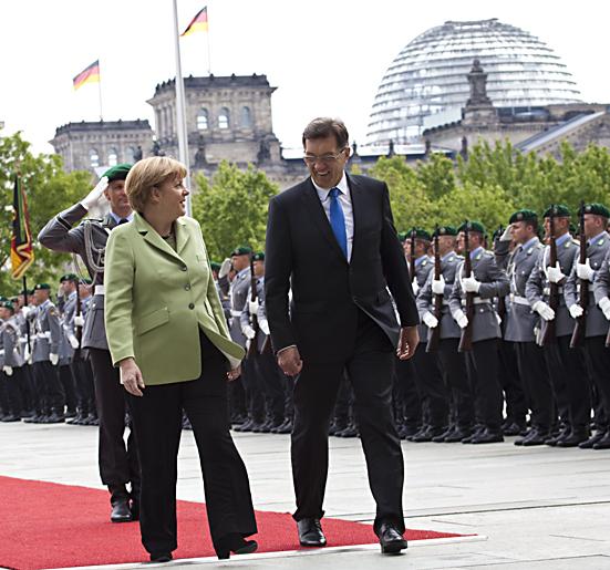 Merkel empfing den litauischen Ministerpraesidenten Algirdas Butkevicius in Berlin