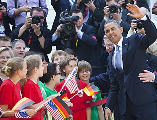 Gauck empfängt Obama im Schloss Bellevue