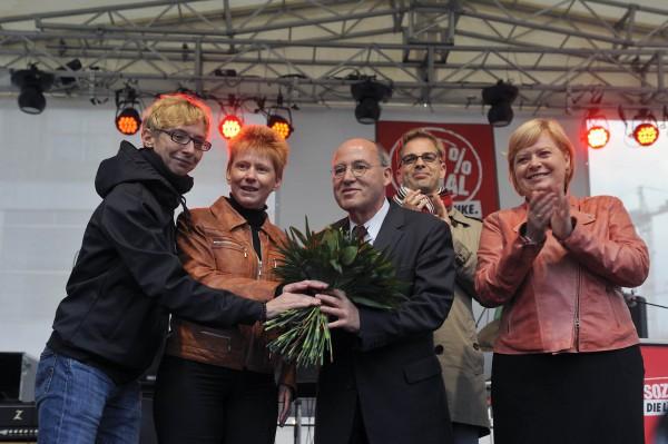 """Wahlkampfveranstaltung der Partei """"Die Linke"""", Berlin 2013"""