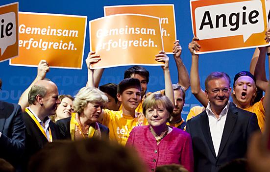 Wahlkampfabschluss der CDU im Berliner Tempodrom
