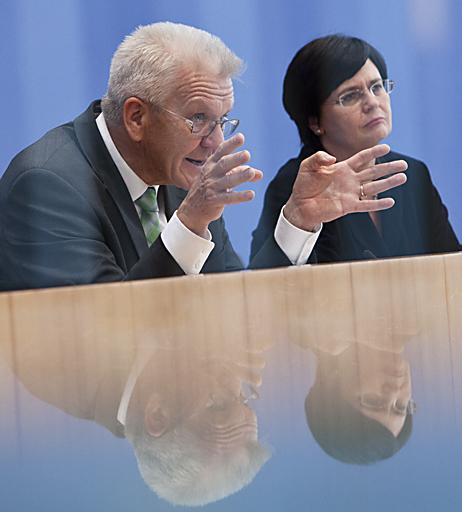Lieberknecht und Kretschmann in der Bundespressekonferenz