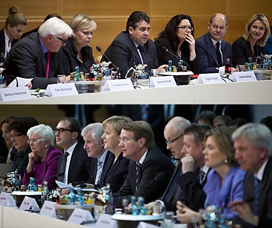 Koalitionsverhandlungen zwischen SPD und CDU/CSU in Berlin