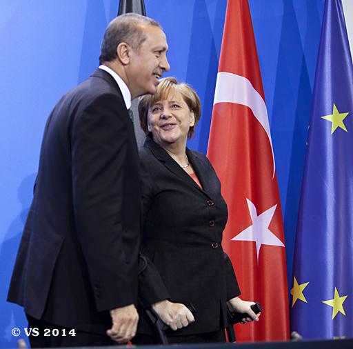 Türkischer Ministerpräsident besucht die Bundeskanzlerin