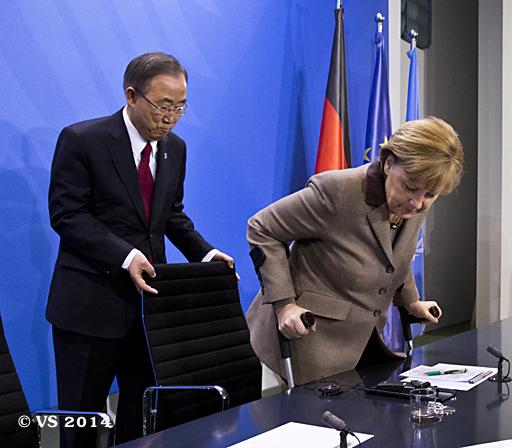 Bundeskanzlerin Angela Merkel empfängt den Generalsekretär der UN Ban Ki-moon im Bundeskanzleramt