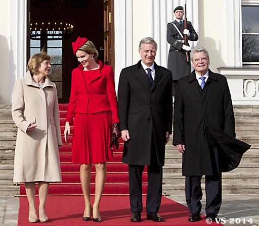 Bundespräsident Gauck begrüßt belgisches Königspaar in Berlin