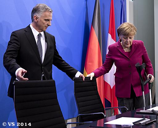Schweizer Bundespräsident besucht die Bundeskanzlerin in Berlin