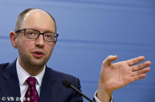 Ukrainischer Ministerpräsident Jazenjuk beim EU-Sondergipfel in Brüssel