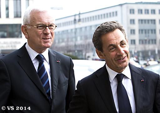 Ehemaliger französischer Präsident Sarkozy hält in Berlin Rede zur Einheit Europas
