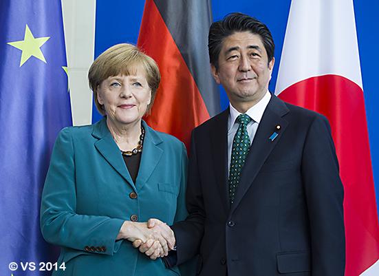 Bundeskanzlerin Merkel empfängt Japans Regierungschef Abe in Berlin