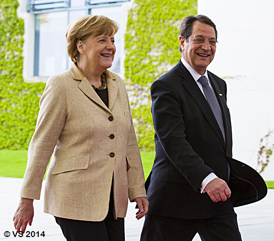 Bundeskanzlerin Merkel empfängt den zyprischen Präsidenten Anastasiades