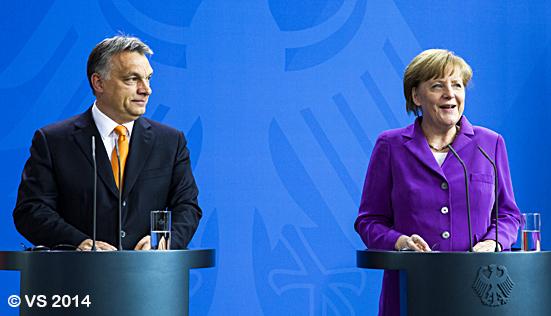 Bundeskanzlerin Merkel empfängt den ungarischen Ministerpräsidenten Orbán in Berlin