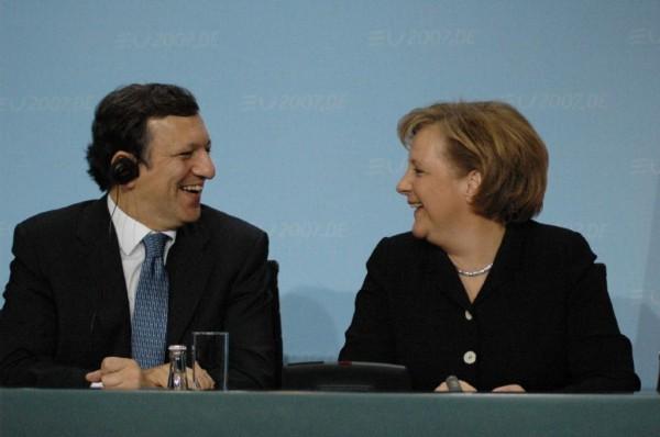 (Bilderarchiv 2007, sylla; EU-Supernasen 2007: Barroso, Merkel)