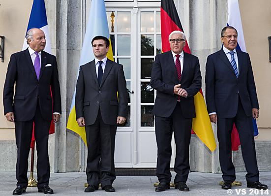 Krisentreffen der Außenminister in Berlin