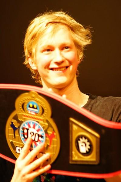 JuliusBerger U2014 Champion der PoetrySlammer. (Bild: Grips-Theater)