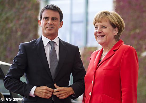 Bundeskanzlerin Merkel empfängt den neuen französischen Premie