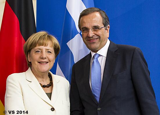 Kanzlerin empfängt den griechischen Regierungschef Samaras