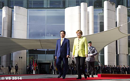 Bundeskanzlerin empfängt den vietnamesischen Ministerpräsident