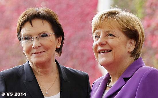 Bundeskanzlerin Merkel empfängt die neue polnische Ministerprä