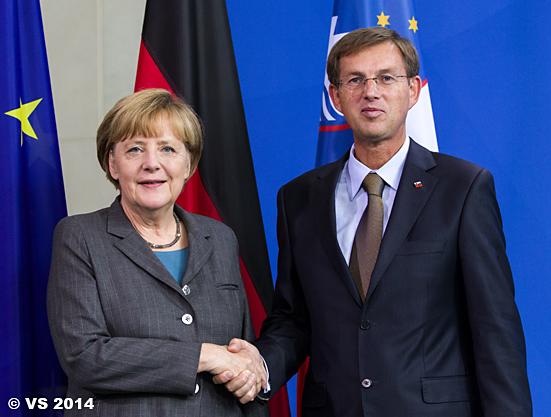 Bundeskanzlerin Merkel begrüßt den neuen slowenischen Minister