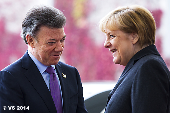 Bundeskanzlerin Merkel empfängt den kolumbianischen Präsidente