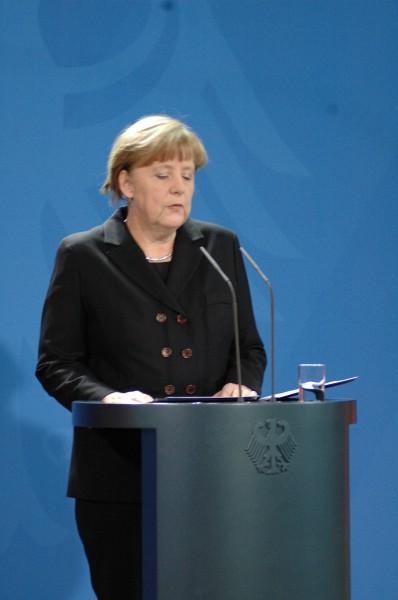 Statements Deutsche Kanzlerin Angela Merkel zu den Ermittlungsergebnissen des Flugzeugunglück 2015 mit 150 Toten einer Deutschen Fluggesellschaft.  (Foto: sylla)