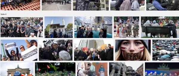 Bilder aus dem Google-Medium heute per Screenshort geknipst. Muslimverbaende_Berlin_Deutschland.  (:-))
